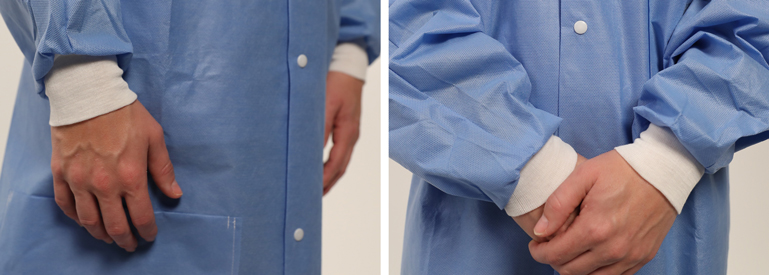Protexer disposable labcoats are cost effective and comfortable, with triple layer fluid-resistance.