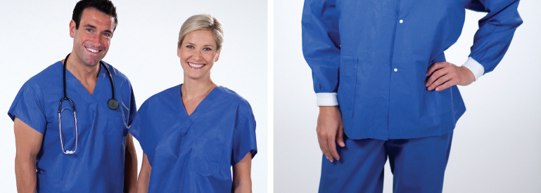 Protexer scrubs offer breathable fabric for supreme comfort and triple layer fluid-resistance for maximum protection.